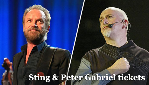 Cheap Sting and Peter Gabriel tickets